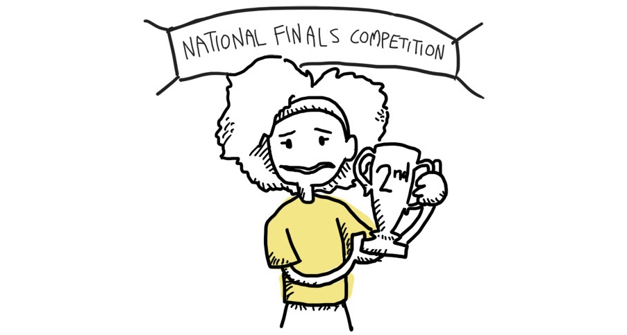 teen unsatisfied with second place at national competition