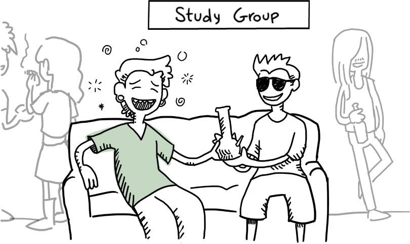 """teen attending fake """"study group"""" where he is smokes marijuana"""