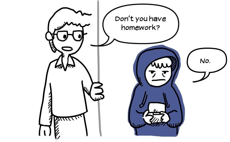 Withdrawn teen ignoring father